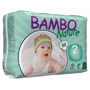 Bambo Nature Mini  ~ 3 - 6kg Nappies (Size 2)