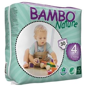Bambo Nature Maxi  ~ 7 - 18kg Nappies (Size 4)
