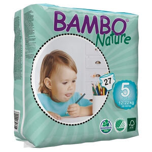 Bambo Nature Junior  ~ 12 - 22kg Nappies (Size 5)
