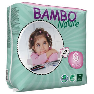 Bambo Nature XL  ~ 16 - 30kg Nappies (Size 6)