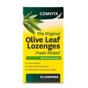 Comvita Olive Leaf Lozenges with Manuka Honey ~ 12 Lozenges