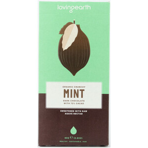 Loving Earth Crunchy Mint Dark Chocolate (Organic) ~ 80g
