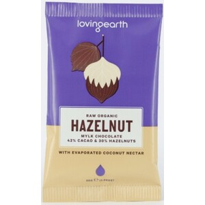 Loving Earth Hazelnut Mylk Chocolate (Organic) ~ 30g