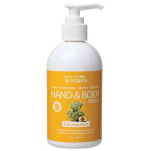 Australian Biologika Lemon Myrtle Hand & Body Wash ~ 250ml