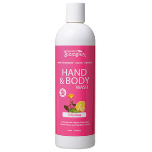 Australian Biologika Citrus Rose Hand & Body Wash ~ 500ml
