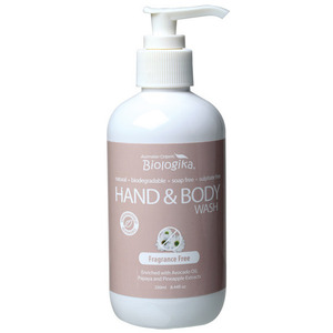 Australian Biologika Fragrance Free Hand & Body Wash ~ 250ml