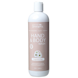 Australian Biologika Fragrance Free Hand & Body Wash ~ 500ml