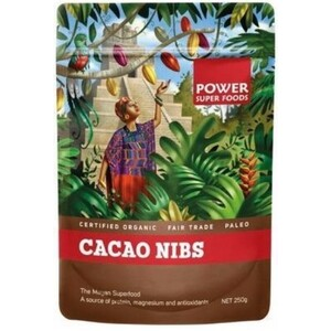 Power Super Foods Cacao Nibs (Organic) ~ 250g