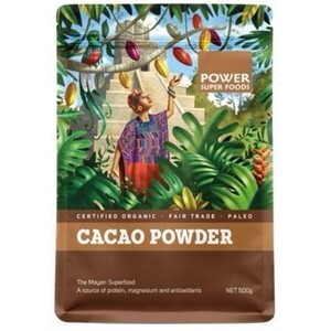 Power Super Foods Cacao Powder (Organic) ~ 500g