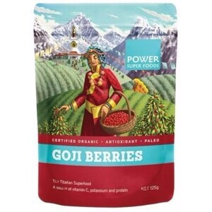Power Super Foods Goji Power Berries (Organic) ~ 125g