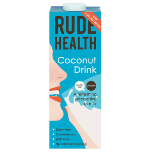 Rude Health Dairy Free Coconut Drink (Organic) ~ 1 litre tetra pak
