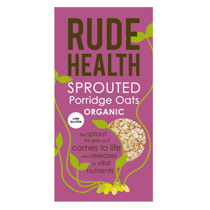 Rude Health Sprouted Porridge Oats ~ Low Gluten (Organic) ~ 500g