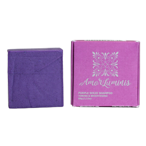 Amor Luminis Solid Shampoo Bar - Purple (Toning & Brightening) ~ 60g