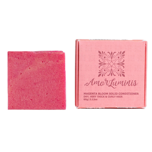 Amor Luminis Solid Conditioner Bar - Magenta Bloom (Dry, Very Thick and Curly Hair) ~ 60g