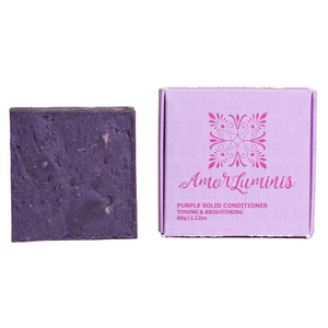 Amor Luminis Solid Conditioner Bar - Purple (Toning & Brightening) ~ 60g