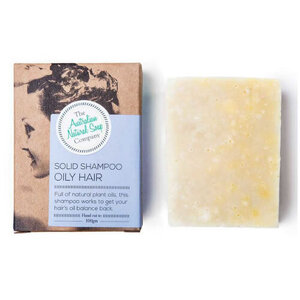 The Australian Natural Soap Co Solid Shampoo Bar ~ Oily Hair ~ 100g
