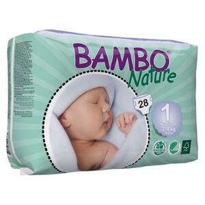 Bambo Nature Newborn  ~ 2 - 4kg Nappies (Size 1)