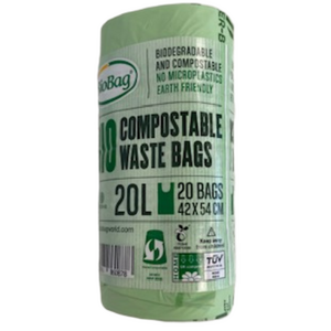 BioBag Compostable Bin Liners 20 Litres - 20 Bags