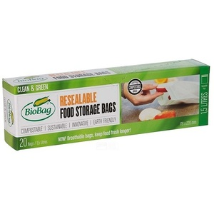 BioBag Resealable Food Storage Bags ~ 20 Bags