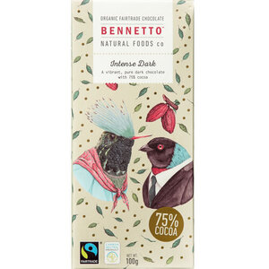 Bennetto  Dark Chocolate Intense Dark (Organic) ~ 100g