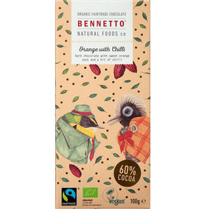 Bennetto  Dark Chocolate Orange Chilli (Organic) ~ 100g