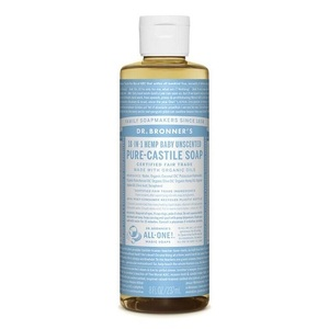 Dr. Bronner's Castile Liquid Soap Baby Unscented (Organic) ~ 237ml