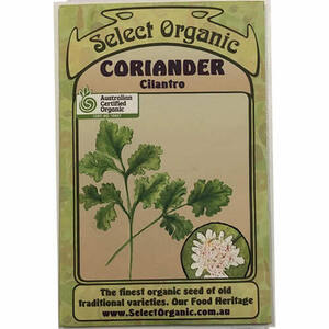 Select Organic Coriander - Cilantro Seeds ~ 1 Packet