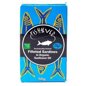 Fish4Ever Sardine Fillets in Organic Sunflower Oil ~ 90g