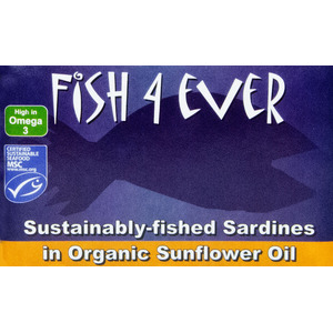 Fish4Ever Sardines in Organic Sunflower Oil ~ 120g