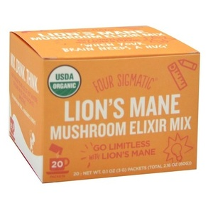 Four Sigmatic Mushroom Elixir Mix With Lion's Mane (Organic) ~ 20 x 3g