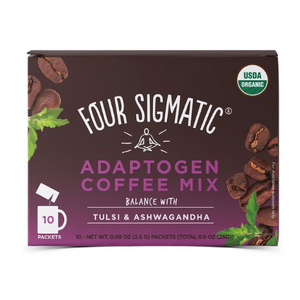 Four Sigmatic Adaptogen Coffee Mix Packets With Tulsi & Ashwagandha ~ 10 x 2.5g