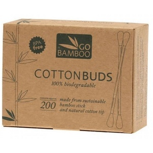 Go Bamboo Cotton Buds ~ 200 pack