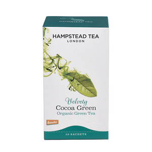 Hampstead Tea Velvety Cocoa Green Tea Bags (Organic) ~ 20 Tea Bags