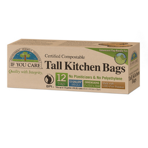 If You Care Tall Kitchen Rubbish Bags ~ 12 Bags