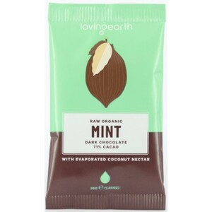 Loving Earth Mint Dark Chocolate (Organic) ~ 30g
