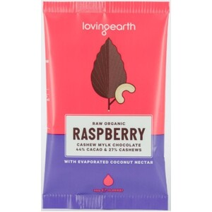 Loving Earth Raspberry Cashew Mylk Chocolate (Organic) ~ 30g