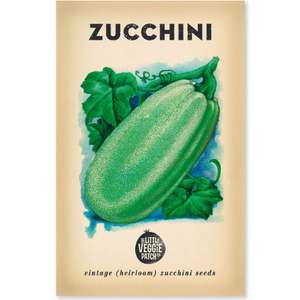 The Little Veggie Patch Co Zucchini 'Black Beauty' Heirloom Seeds