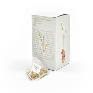 Love Tea Lemongrass & Ginger Pyramid Bags (Organic) ~ 20 Tea Bags