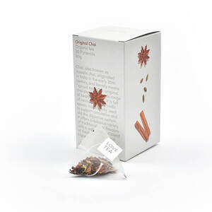 Love Tea Original Chai Pyramid Bags (Organic) ~ 20 Tea Bags