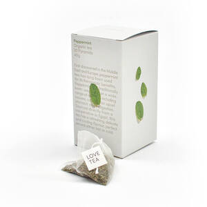 Love Tea Peppermint Pyramid Bags (Organic) ~ 20 Tea Bags