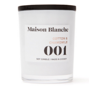 Maison Blanche Cotton & Chamomile Candle ~ Large