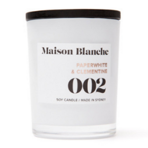 Maison Blanche Paperwhite & Clementine Candle ~ Large