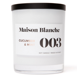 Maison Blanche Cucumber & Mint Candle ~ Medium