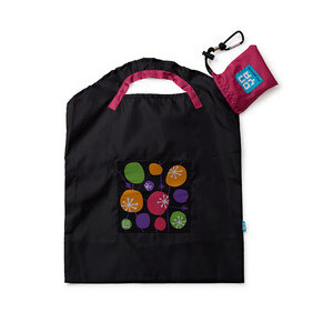 Onya Reusable Shopping Bag Black Retro ~ Small
