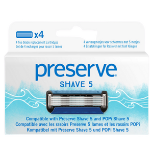 Preserve POPi Shave 5 Replacement Blades , 4 Blades