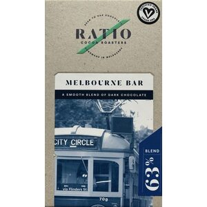 Ratio Cocoa Roasters Melbourne Blend Dark 63% (Vegan) ~ 70g