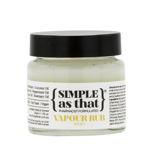 SIMPLE as that Vapour Rub Baby ~ 50g