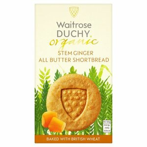 Duchy Organic Shortbread Stem Ginger Biscuits ~ 150g