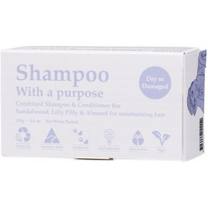 Shampoo With A Purpose Shampoo & Conditioner Bar Dry Or Damaged Hair ~ 135g
