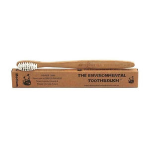 The Environmental Bamboo Toothbrush ~ Adult Medium Bristles